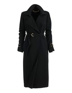 Ungefütterter Sommermantel in Trench-Optik | MADELEINE Mode Österreich Mantel Trenchcoat, Summer Coats, Long Trench Coat, Polyvore, Huf, Jackets, Belt, Fashion, Black