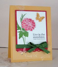 Beautiful card using the Fabulous Florets stamp set.