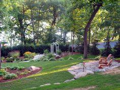 Yard Ideas on Inclined Backyard Ideas id=95816
