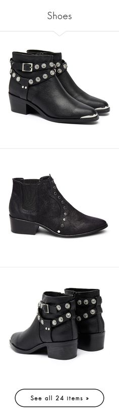 """""""Shoes"""" by persephone-tbf ❤ liked on Polyvore featuring shoes, boots, ankle booties, bota, western boots, black cowgirl boots, black ankle boots, black ankle booties, cowgirl boots and ankle boots"""