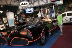 Did you know the original 1966 Batmobile lives in Gatlinburg, Tennessee? Visit the Hollywood Star Cars Museum on the Parkway to see the real cars from Hollywood, displayed in recreated sets with sound, lights, and action.