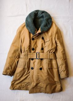 1950's Canvas Canadian Army Shawl Collared Jacket by SaundersMilitaria   Etsy