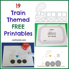 Get loads of free printables for your kids that have a train theme! is part of Train preschool activities - Here is a super cool list of 19 train themed free printables Choo chooooo! Train Preschool Activities, Free Preschool, Kids Learning Activities, Preschool Printables, Free Printables, Little Engine That Could, Transportation Theme, Preschool Transportation, Tot School