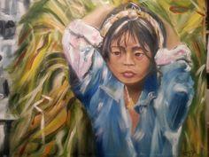 No al trabajo infantil III Oleo/lienzo 100x81