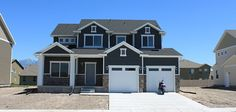 Fieldstone Homes exterior in the community of Rosecrest Utah Home Builders, Shed, Farmhouse, Exterior, Community, Outdoor Structures, Homes, Mansions, House Styles