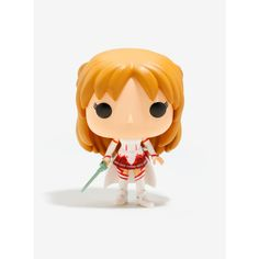 Funko Pop! Sword Art Online Asuna Vinyl Figure ($11) ❤ liked on Polyvore featuring home, home decor, accessories, funko pop vinyl, toys, funko, vinyl figurines, vinyl figure, funky home decor and vinyl home decor