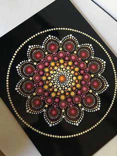 Hand Painted Mandala on an Artist Panel Meditation Mandala