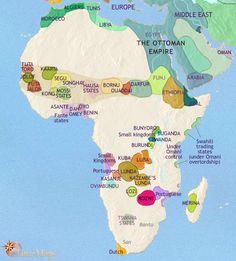 World history wall maps africa 1200 1600 world history history map of africa 1789 ad gumiabroncs Gallery