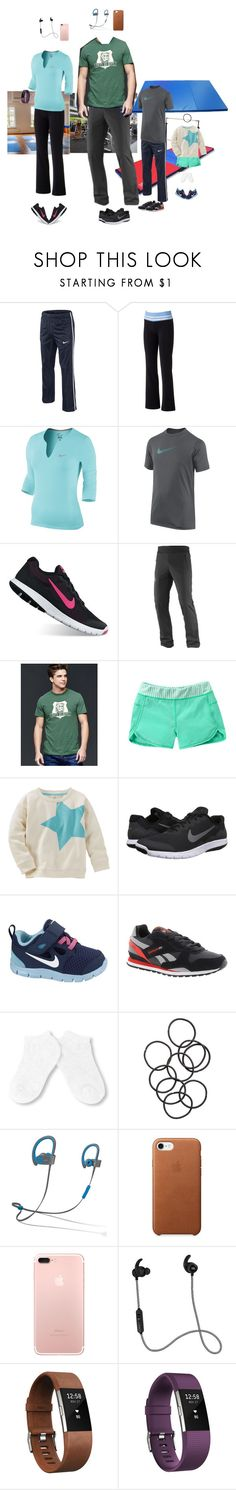 """""""4/24 (Night)"""" by mana-g ❤ liked on Polyvore featuring Salomon, NIKE, SO, Gap, Reebok, H&M, Beats by Dr. Dre, Athleta and Fitbit"""