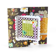 Sizzix Movers & Shapers L Die - Card, Scallop Square Flip-its