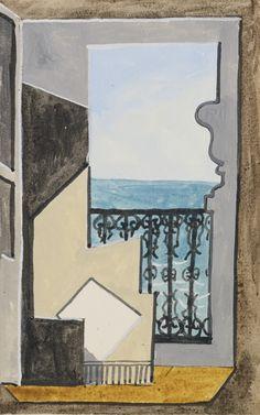Pablo Picasso -  BALCON SUR LA MER -1919                    ...
