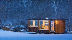 The Vista tiny house on wheels is an elegant tiny house design built with quality craftsmanship. Tiny House Builders, Tiny House Design, Cabana, Mini Chalet, Tiny House France, Cedar Paneling, Portable Cabins, Home Focus, Vie Simple