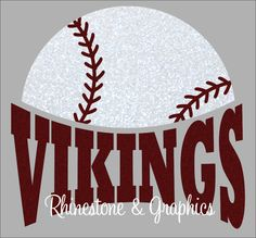 Vikings Baseball Instant download SVG, Eps, DXF Cutting File by RhinestoneandGraphic on Etsy