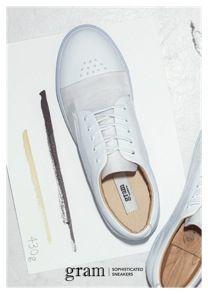 gram shoes 430g white leather white nylon www.gramshoes.com