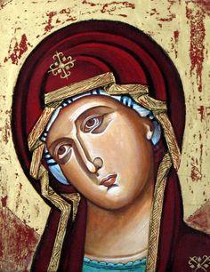 Visage de la Vierge Marie