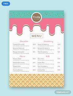 27 Of Ice Cream Menu Template Free Ice Cream Menu, Ice Cream Logo, Ice Cream Brands, Ice Cream Desserts, Ice Cream Poster, Ice Cream Parlor, Bakery Menu, Restaurant Menu Design, Cafe Menu