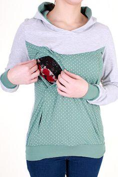 Casual breastfeeding shirt maternity top by VivalaMamaBerlin