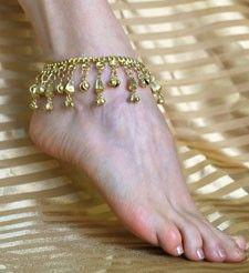 Bells & Dangles Bellydance Anklet - GOLD