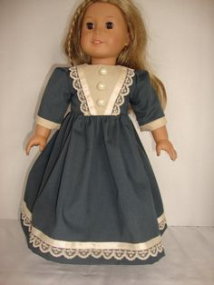 American Girl Doll Clothes Pretty Blue by VernasThreadedNeedle
