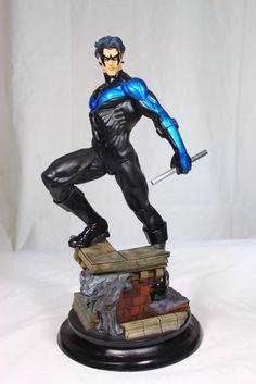 PrototypeZ Studio's Nightwing Available Tomorrow! Dc Comic Books, Comic Book Heroes, Dc Comics, Nightwing And Batgirl, Dc Action Figures, Marvel Statues, Superman Art, Nerd Art, Batman Universe