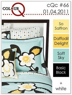 Stampin' Up! color combo: So Saffron, Daffodil Delight, Soft Sky, Basic Black and White