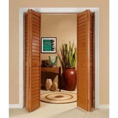 Home Fashion Technologies 28 In. X 80 In. 3 In. Louver/Louver Golden Oak  Composite Interior Bi Fold Door