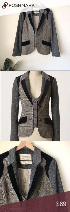 Mario Serrani Open Front Stretch Blazer Black Size Medium Lovely Luster Suits & Suit Separates