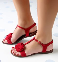 SUBLIME RED :: SANDALIAS :: CHIE MIHARA SHOP ONLINE