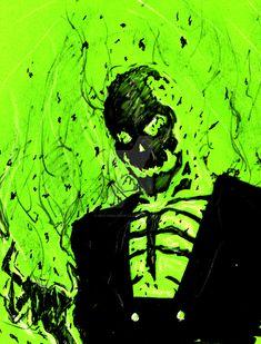 Blight (Batman Beyond) Markers on Color Paper Blight Comic Character, Character Design, Dc Comics, Fallout Art, Comic Villains, Arkham Asylum, Batman Beyond, Weird Art, Ghost Rider
