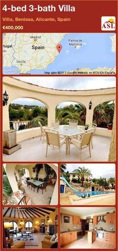 4-bed 3-bath Villa in Villa, Benissa, Alicante, Spain ►€400,000 #PropertyForSaleInSpain