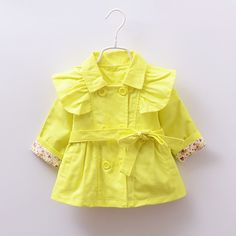 >> Click to Buy << Baby clothing spring and autumn outerwear baby girl bow long-sleeve cotton trench baby cardigan fashion style baby coat #Affiliate