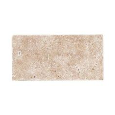 Travertine Noce 6 in. x 3 in. Travertine Wall & Floor Tile (1pack/8pieces-1sq. ft.)-99100 ($4.47/sq ft)  The Home Depot