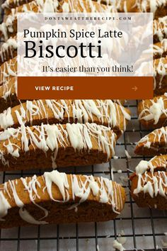 Pumpkin Biscotti, Pumpkin Spice Cookies, Biscotti Cookies, Pumpkin Spice Latte, Pumpkin Cookie Recipe, Best Biscotti Recipe, Christmas Biscotti Recipe, Pumpkin Recipes, Fall Recipes