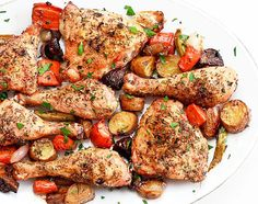 ...Simple Roast Chicken on a Bed of Vegetables | Wishful Chef BreakfastFoods.akerpub.com #lunch  meal -  #snack  Chicken  #recipe