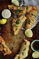 Beer Battered Fish and Chips w/ Spicy Remoulade | The Candid Appetite