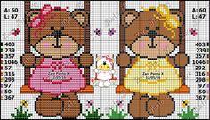 Cross Stitch Baby, Cross Stitch Animals, Cross Stitch Kits, Cross Stitch Charts, Cross Stitch Patterns, Stitch Doll, Animal Crackers, Plastic Canvas Patterns, Afghan Patterns