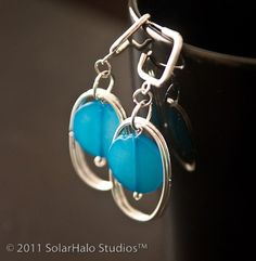 Drops of Blue Earrings by solarhalo #etsy