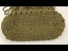 Eine Crochet Rectangle Bag Base stricken - My CMS Crochet Handbags, Crochet Purses, Crochet Bags, Leather Embroidery, Crochet Christmas Gifts, Leather Bag Pattern, Leather Bags Handmade, Crochet Videos, Knitted Bags
