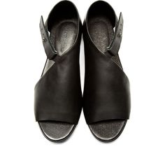 Silent by Damir Doma Black Leather Siri Sandals