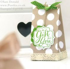 POOTLES Stampin Up UK ADVENT COUNTDOWN 19 Table Gift Bag 2