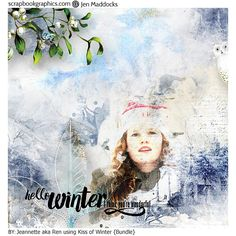 Kiss of Winter {Bundle} by Jen Maddocks @ Scrapbookgraphics http://shop.scrapbookgraphics.com/Kiss-of-Winter-Bundle.html
