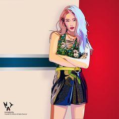 Sooyoung, Yoona, Snsd, Girls Generation, Yuri, Chibi, Queens, Fanart, Kpop