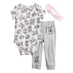 DISNEY THE MUPPETS KERMIT 3 PIECE BABY OUTFIT SIZE NB 3 6 9 12 18 MONTHS NEW!