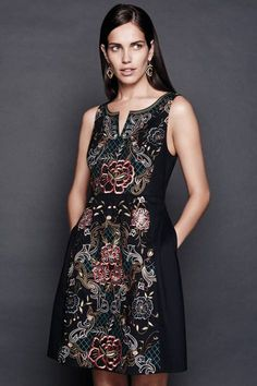 Embroidered Perennial Dress by Moulinette Soeurs | Pinned by topista.com