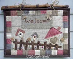 Quilted Welcome wall hanging