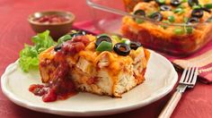 Turn leftover chicken into a tasty dinner in a family-pleasing casserole featuring Grands!® biscuits.