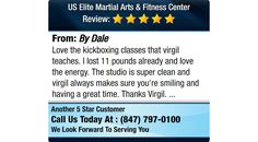 Love the kickboxing classes that virgil teaches. I lost 11 pounds already and love the...