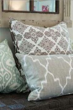 Grey Ikat Pillow Case