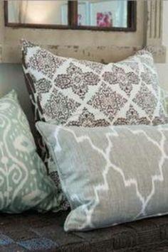 Grey Ikat Pillow Case