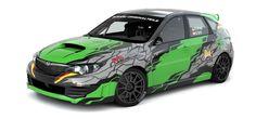 SG Sport Rally Team - R. Pritzl (Subaru Impreza) - design and wrap.